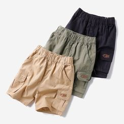Happy Go Lucky - Kids Embroidered Shorts