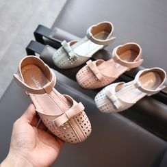 Luco - Kids Bow Perforated Sandals
