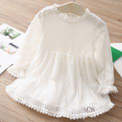 贝壳童装 - 小童长袖蕾丝连衣裙