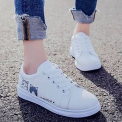 Yuche - Cat Print Sneakers