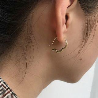 Kokyu - Alloy Face Silhouette Earring