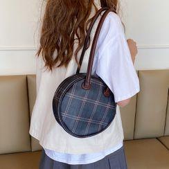 Barba - Plaid Round Shoulder Bag