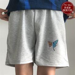 Sophia(ソフィア) - Butterfly Print Sweatshorts