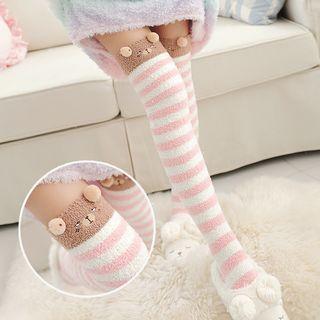 Geisha - Coral Fleece Over-the-Knee Socks