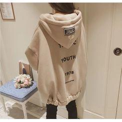 SHONN - Oversized Hooded Sweatshirt Jacket