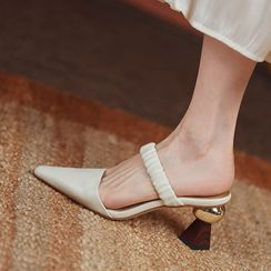 YAZZIONE - Pointed High Heel Slide Sandals