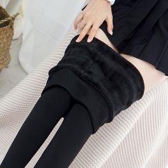 College Affair - Fleece Lined Tights / Stirrup Leggings