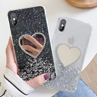 Xianto - Sequined Heart Phone Case For iPhone/ Huawei