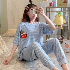 Dreamdazz - Pajama Set: Striped T-Shirt + Pants