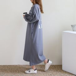 PPGIRL - Letter-Print T-Shirt Dress