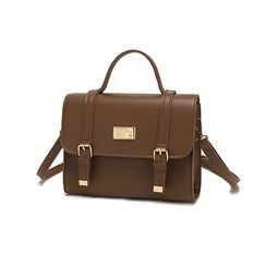 Vintage Kiss(ヴィンテージキス) - Faux Leather Satchel