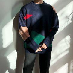 MRCYC - Color Block Crew-Neck Sweater