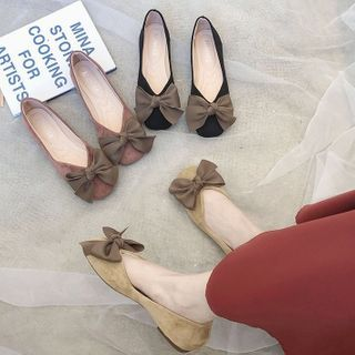 Belbie - Square-Toe Bow Flats