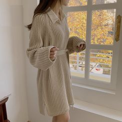 Tangihouse - Mini Sweater Dress / Mini A-Line Shirtdress