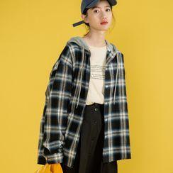 Wapiti - 連帽格子襯衫