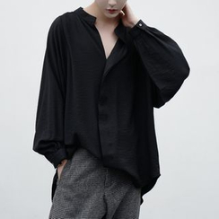 Bjorn - Split-Neck Textured Shirt