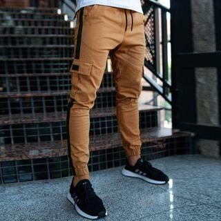 Lefitt - Striped Cropped Harem Pants