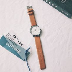 InShop Watches - Retro Faux Leather Strap Watch
