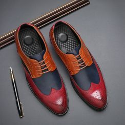Pikkolo - Paneled Lace-Up Brogue Shoes