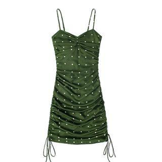 JIN STUDIOS - Spaghetti Strap Dotted Dress