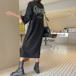 DABAGIRL - 'New York' Letter Long T-Shirt Dress
