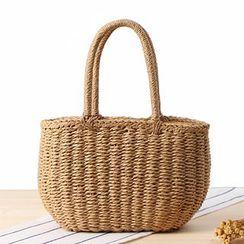 STYLE CICI - Straw Basket Hand Bag