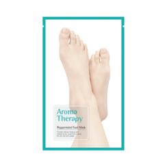 ROYAL SKIN - Aromatherapie Fußmaske Pfefferminz