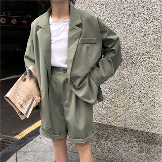 Guajillo - 单扣西装外套 / 高腰短裤