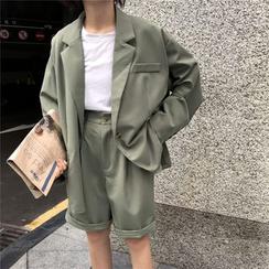 Guajillo - 單扣西裝外套 / 高腰短褲