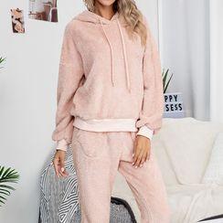 Chichi Izzy - Pajama Set: Fleeced Long Sleeve Hoodie + Pants