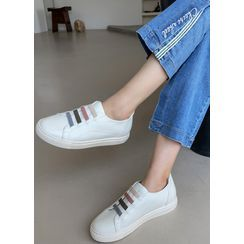Styleonme(スタイルオンミー) - Contrast-Banded Sneakers