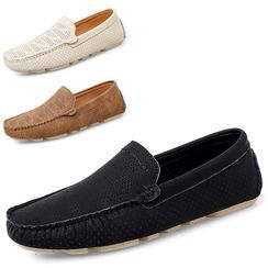 WeWolf(ウィーウルフ) - Genuine-Leather Cutout Casual Shoes