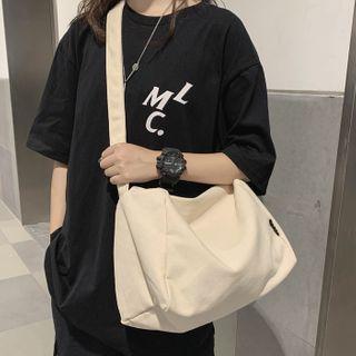 EAVALURE - Plain Canvas Crossbody Bag