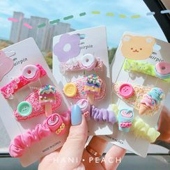 Hazy Beauty - Kids Set: Dessert Hair Clip / Scrunchie