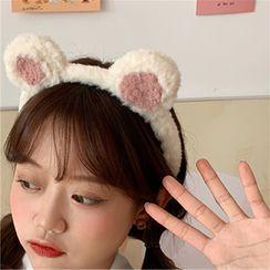 Diplet(ディプレット) - Bear Ear Chenille Face Wash Headband