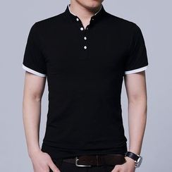 COOLIN - Stand Collar Short-Sleeve Polo Shirt