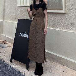 Shinobu - Leopard Strappy Dress