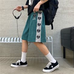 2DAWGS(2ドーグス) - Heart Embroidered Straight Leg Shorts