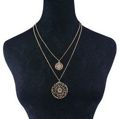 Seirios - Cutout Double-Chain Necklace