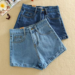 Ashlee - Cuffed Denim Shorts