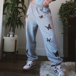 Genrovia - Butterfly Print Sweatpants