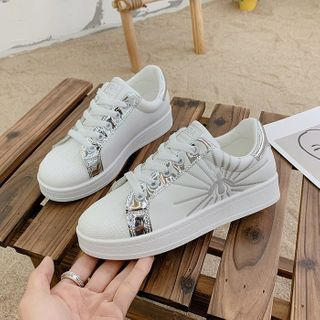 Yuche(ユチェ) - Platform Lace Up Sneakers
