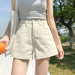 Shinsei - Wide-Leg Denim Shorts