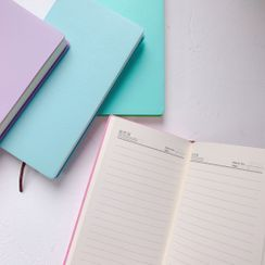 Hello minto - Faux Leather Medium Notebook