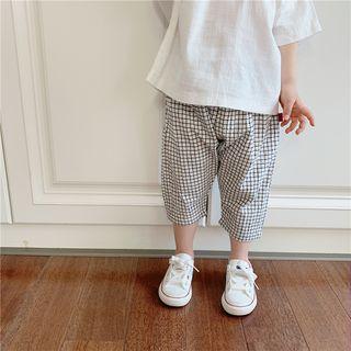 Peperoncino - Kids Capri Check Pants