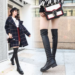 Simply Walk - Plain Over-The-Knee Boots