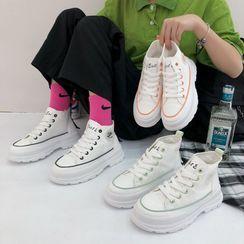 Asterisk - 繫帶厚底休閒鞋