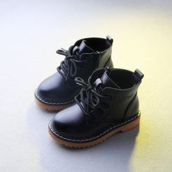 Creayu - Kids Lace-Up Short Boots