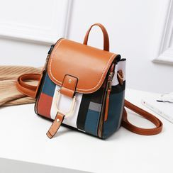 Aquilegia - Convertible Color Block Crossbody Bag