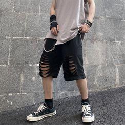Giuliana - Cutout Straight-Fit Shorts
